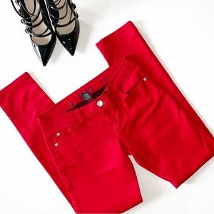 CELEBRITY PINK Low Rise Skinny Red Jeans